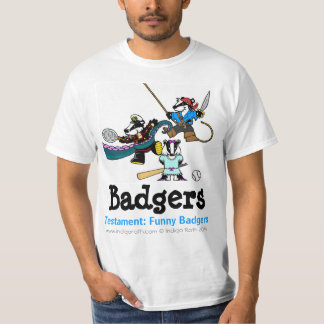 TESTAMENT: FUNNY BADGERS (TM) Dantoo, Hoth and Sol T-Shirt