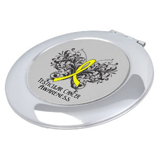 Testicular Cancer Awareness Butterfly Vanity Mirror