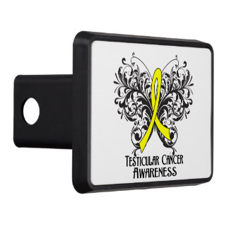 Testicular Cancer Awareness Butterfly Tow Hitch Covers
