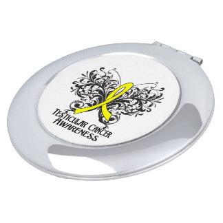Testicular Cancer Awareness Butterfly Travel Mirror