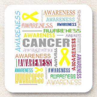 Testicular Cancer Awareness Collage Beverage Coaster