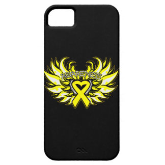 Testicular Cancer Awareness Heart Wings iPhone 5 Cover