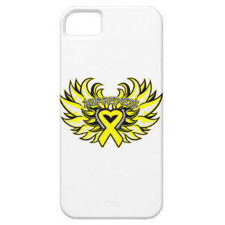 Testicular Cancer Awareness Heart Wings iPhone 5 Covers