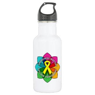 Testicular Cancer Awareness Matters Petals 532 Ml Water Bottle