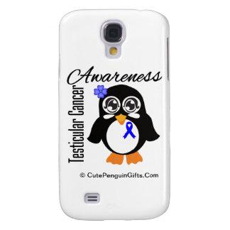 Testicular Cancer Awareness Penguin Blue Galaxy S4 Case