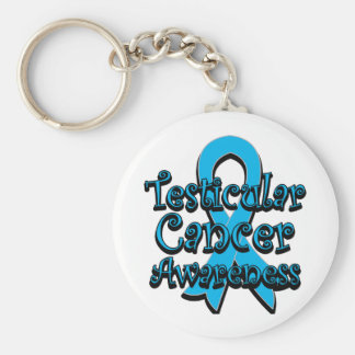 Testicular Cancer Awareness Ribbon Basic Round Button Key Ring