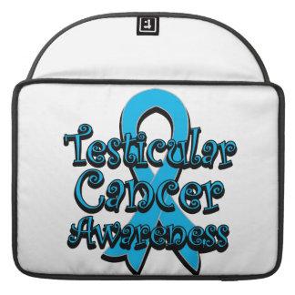 Testicular Cancer Awareness Ribbon MacBook Pro Sleeve