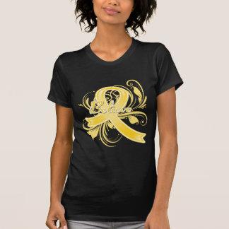 Testicular Cancer Believe Flourish Ribbon T Shirt