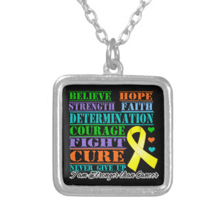 Testicular Cancer Believe Strength Determination Pendant