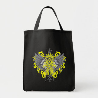 Testicular Cancer Cool Wings Tote Bags