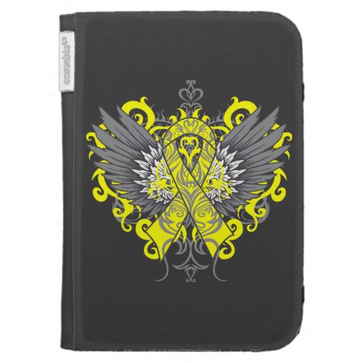 Testicular Cancer Cool Wings Kindle Keyboard Cases