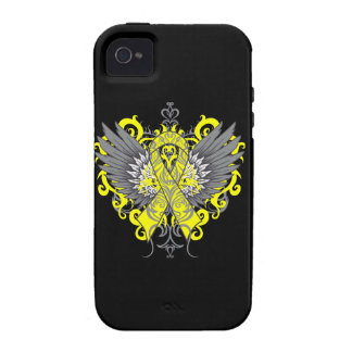 Testicular Cancer Cool Wings Case-Mate iPhone 4 Cover
