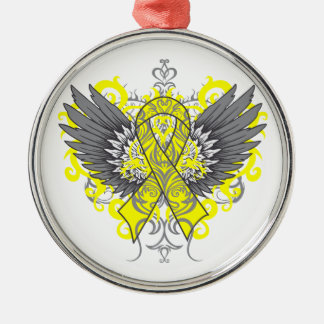Testicular Cancer Cool Wings Christmas Ornaments