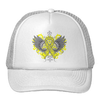 Testicular Cancer Cool Wings Hats