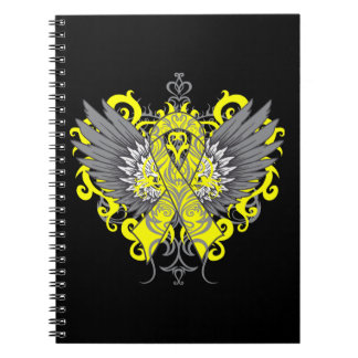 Testicular Cancer Cool Wings Spiral Note Book