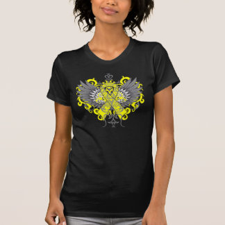 Testicular Cancer Cool Wings Tee Shirt