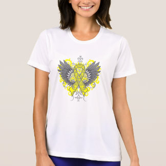 Testicular Cancer Cool Wings T-shirt