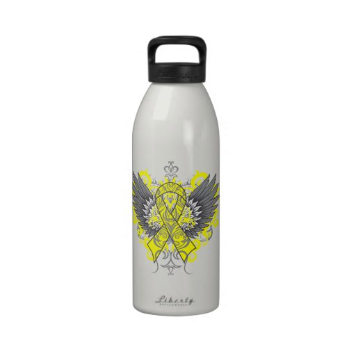 Testicular Cancer Cool Wings Drinking Bottle