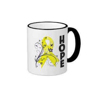 Testicular Cancer Floral Hope Ribbon Mug