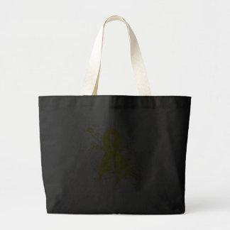 Testicular Cancer Floral Swirls Ribbon Bag