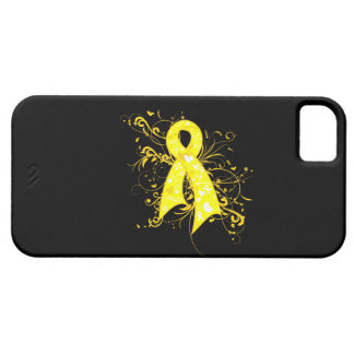 Testicular Cancer Floral Swirls Ribbon iPhone 5 Cases