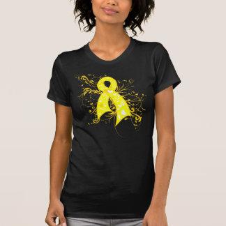 Testicular Cancer Floral Swirls Ribbon Shirts