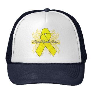 Testicular Cancer Flourish Hope Faith Cure Hats