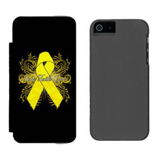 Testicular Cancer Flourish Hope Faith Cure Incipio Watson™ iPhone 5 Wallet Case