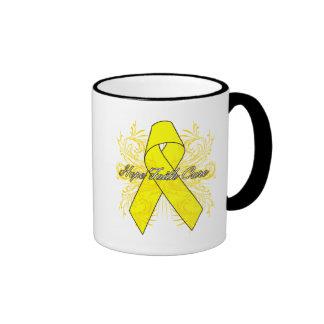 Testicular Cancer Flourish Hope Faith Cure Coffee Mug