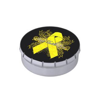 Testicular Cancer Flourish Hope Faith Cure Candy Tins