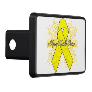 Testicular Cancer Flourish Hope Faith Cure Trailer Hitch Cover