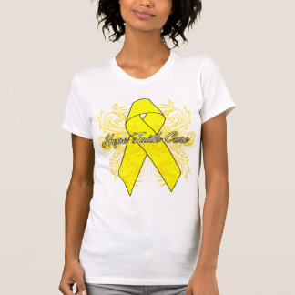 Testicular Cancer Flourish Hope Faith Cure Tshirt