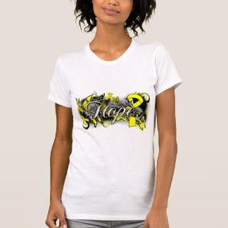 Testicular Cancer Hope Garden Ribbon T-shirts