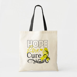 Testicular Cancer Hope Love Cure Canvas Bags