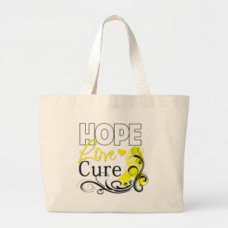 Testicular Cancer Hope Love Cure Tote Bag