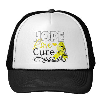 Testicular Cancer Hope Love Cure Hat