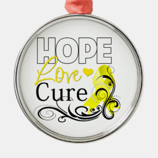 Testicular Cancer Hope Love Cure Christmas Tree Ornament