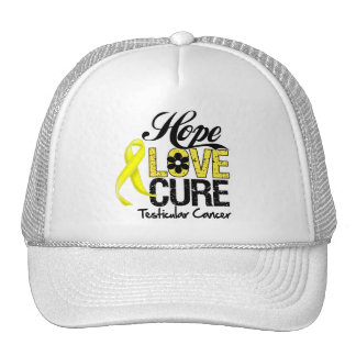 Testicular Cancer Hope Love Cure Mesh Hats