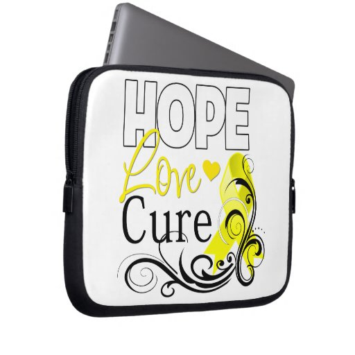 Testicular Cancer Hope Love Cure Computer Sleeve
