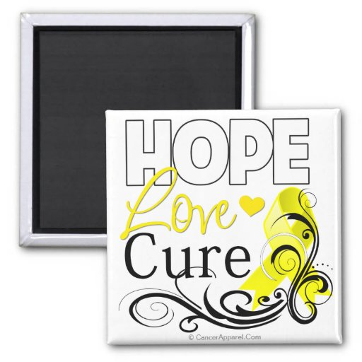 Testicular Cancer Hope Love Cure Refrigerator Magnets
