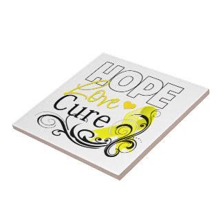 Testicular Cancer Hope Love Cure Ceramic Tiles
