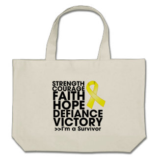 Testicular Cancer Hope Strength Victory Tote Bag
