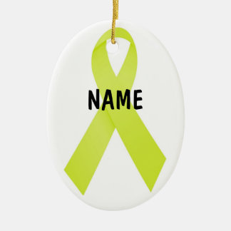 Testicular Cancer Memorial Ribbon Christmas Ornament