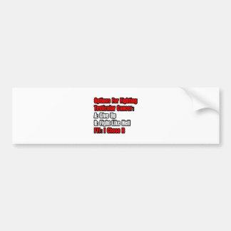 Testicular Cancer Options Car Bumper Sticker