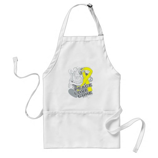 Testicular Cancer Peace Love Cure Apron