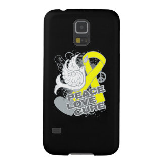 Testicular Cancer Peace Love Cure Galaxy S5 Cases