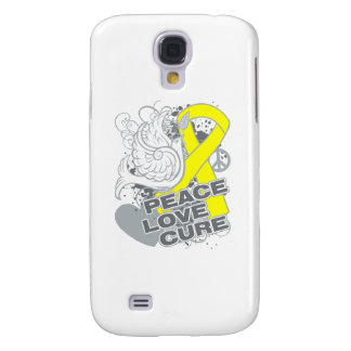 Testicular Cancer Peace Love Cure Samsung Galaxy S4 Cases