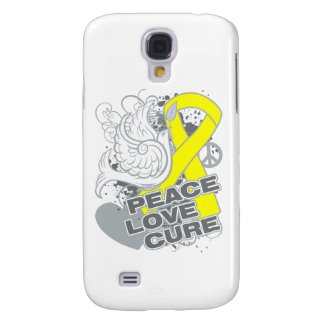 Testicular Cancer Peace Love Cure Galaxy S4 Cover