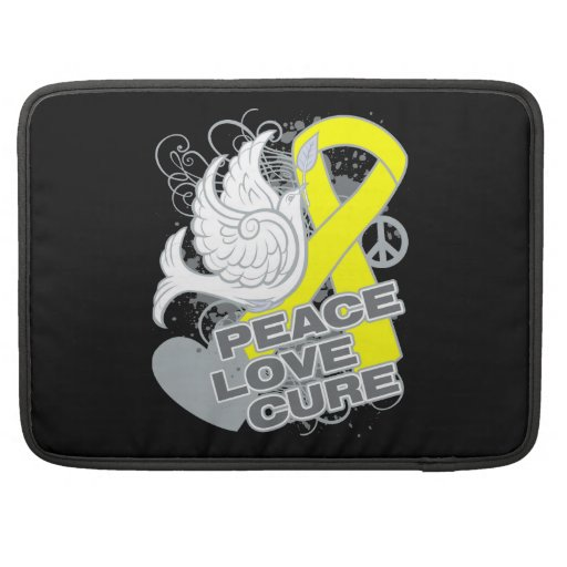 Testicular Cancer Peace Love Cure Sleeve For MacBook Pro