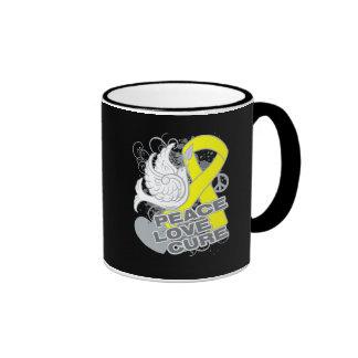 Testicular Cancer Peace Love Cure Coffee Mug